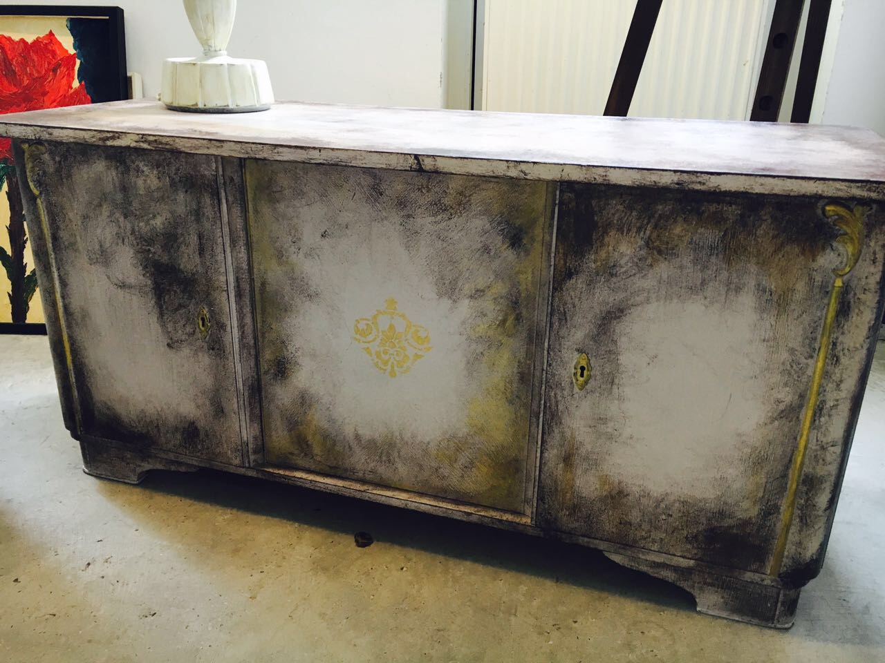 Shabby Look Kommode Vintage style aus upcycling